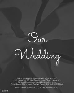 quint app, quint design, wedding invitation design, contemporary design, designer mobile app
